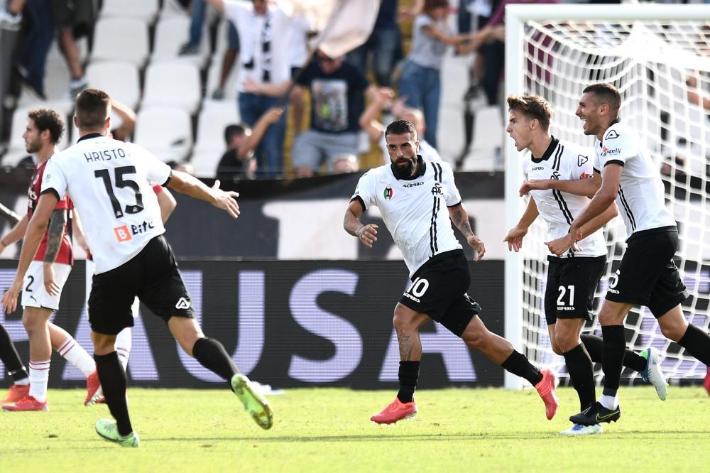 La Spezia 25/09/2021 - campionato di calcio serie A / Spezia-Milan / foto Image Sport nella foto: esultanza gol Daniele Verde