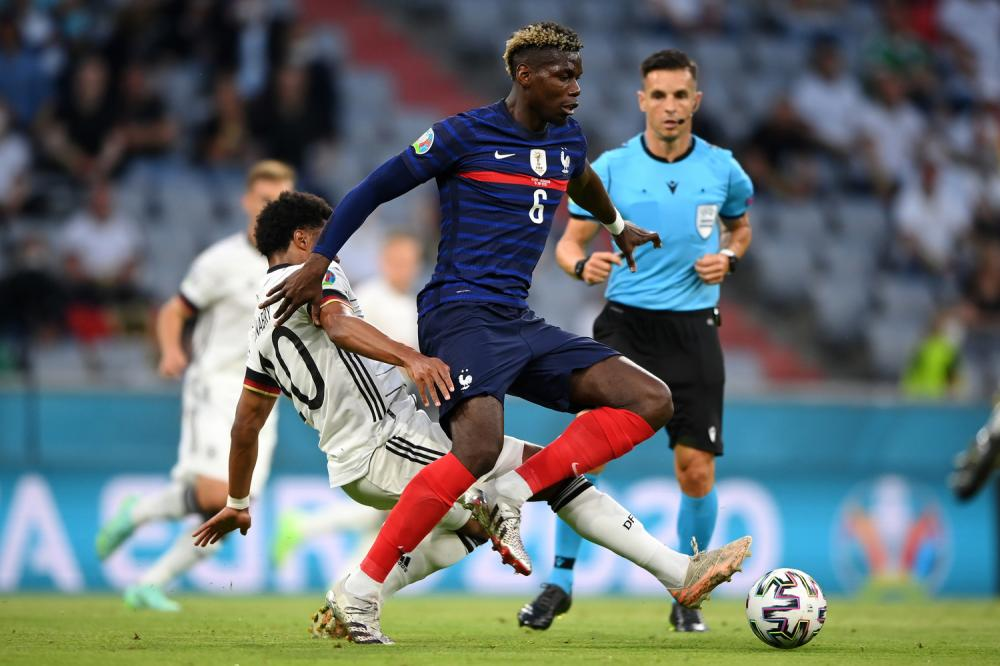 Monaco di Baviera ( Germania) 15/06/2021 - Euro 2020 / Germani-Francia / foto Uefa/Image Sport nella foto: Paul Pogba-Serge Gnabry