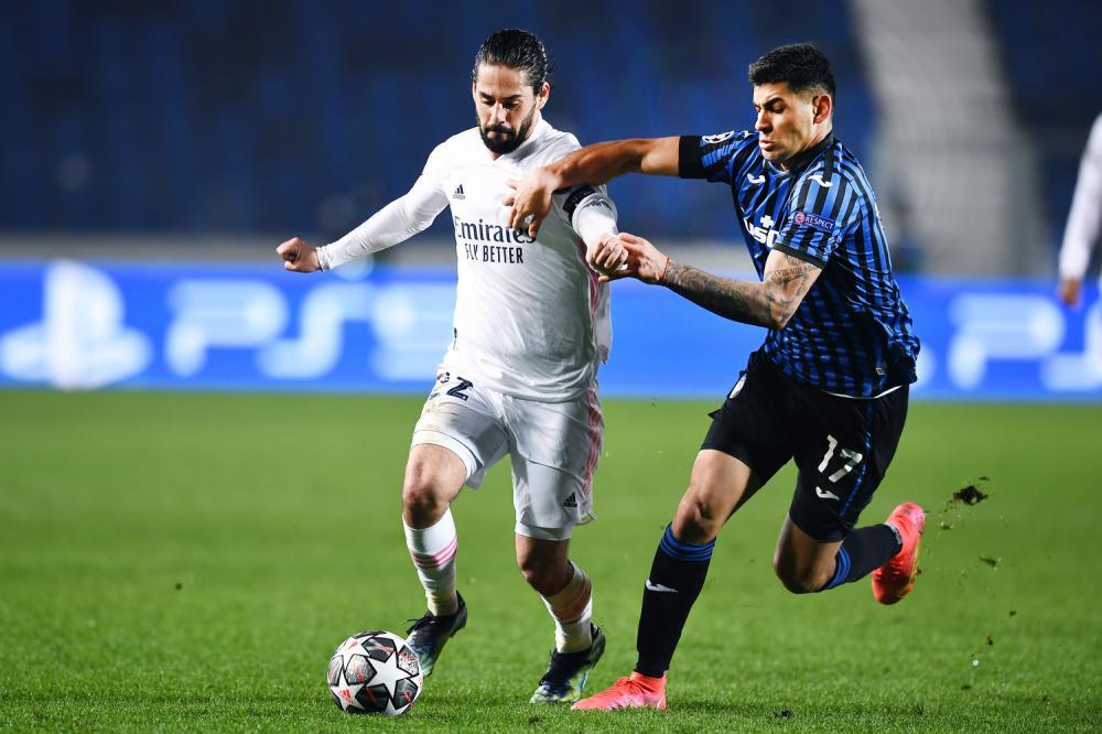 Mg Bergamo 24/02/2021 - Champions League / Atalanta-Real Madrid / foto Matteo Gribaudi/Image Sport nella foto: Nacho Fernandez-Cristian Romero