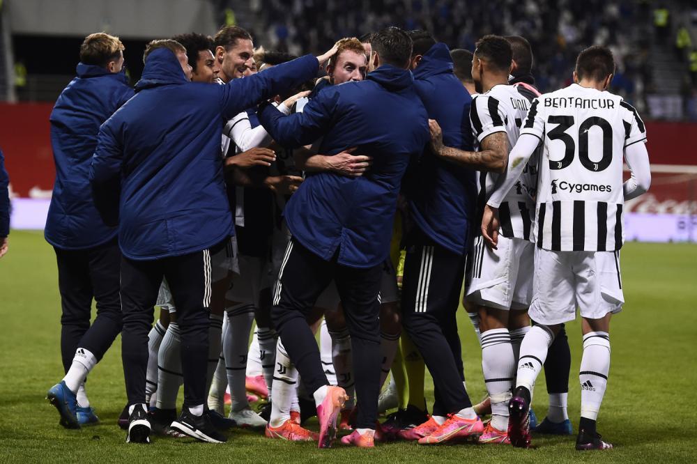 Reggio Emilia 19/05/2021 - finale Coppa Italia / Atalanta-Juventus / foto Image Sport nella foto: esultanza gol Dejan Kulusevski