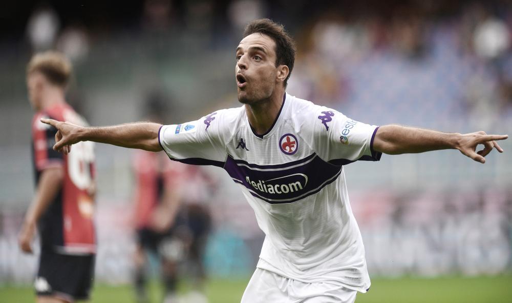 Genova 18/09/2021 - campionato di calcio serie A / Genoa-Fiorentina / foto Image Sport nella foto: esultanza gol Giacomo Bonaventura