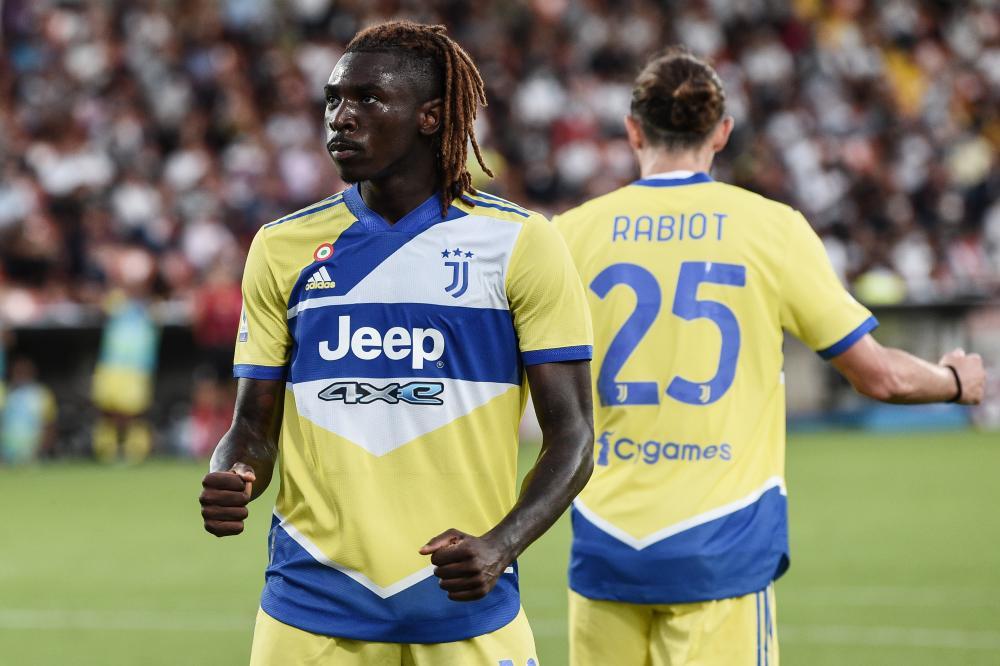 La Spezia 22/09/2021 - campionato di calcio serie A / Spezia-Juventus / foto Image Sport nella foto: esultanza gol Moise Kean