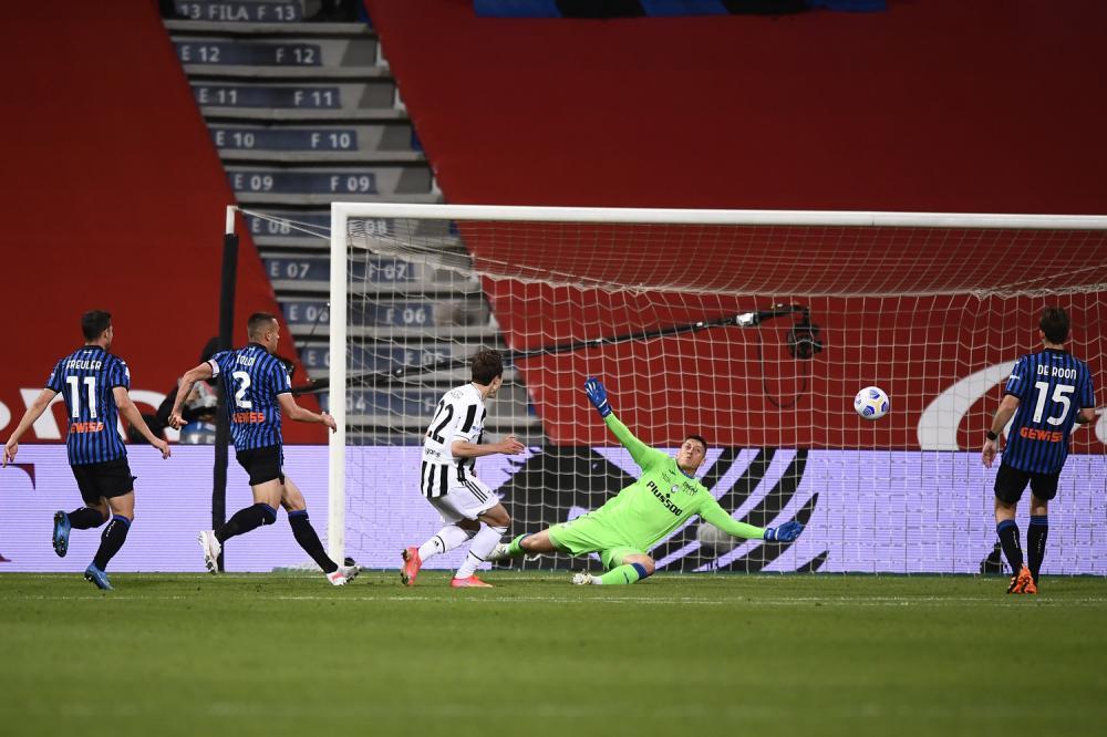 Reggio Emilia 19/05/2021 - finale Coppa Italia / Atalanta-Juventus / foto Image Sport nella foto: palo Federico Chiesa
