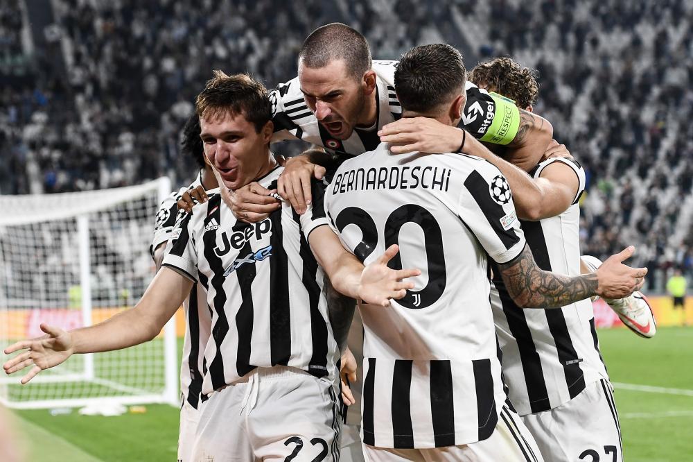 Db Torino 29/09/2021 - Champions League / Juventus-Chelsea / foto Matteo Gribaudi/Image Sport nella foto: esultanza gol Federico Chiesa