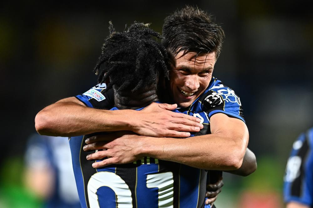 Mg Bergamo 29/09/2021 - Champions League / Atalanta-Young Boys / foto Matteo Gribaudi/Image Sport nella foto: esultanza gol Matteo Pessina