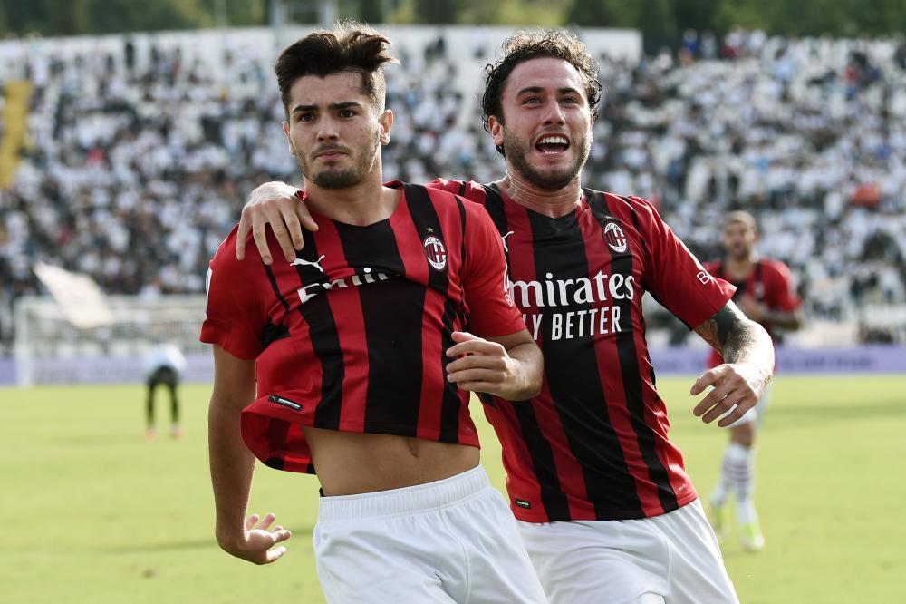La Spezia 25/09/2021 - campionato di calcio serie A / Spezia-Milan / foto Image Sport nella foto: esultanza gol Brahim Diaz