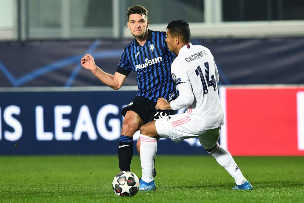 Mg Bergamo 24/02/2021 - Champions League / Atalanta-Real Madrid / foto Matteo Gribaudi/Image Sport nella foto: Casemiro-Berat Djimsiti