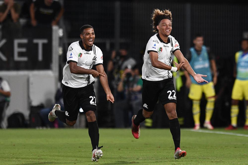 La Spezia 22/09/2021 - campionato di calcio serie A / Spezia-Juventus / foto Image Sport nella foto: esultanza gol Janis Antiste