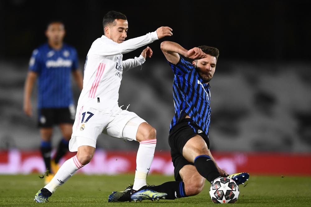 Madrid (Spagna) 16/03/2021 - Champions League / Real Madrid-Atalanta / foto Image Sport nella foto: Berat Djimsiti-Lucas Vazquez