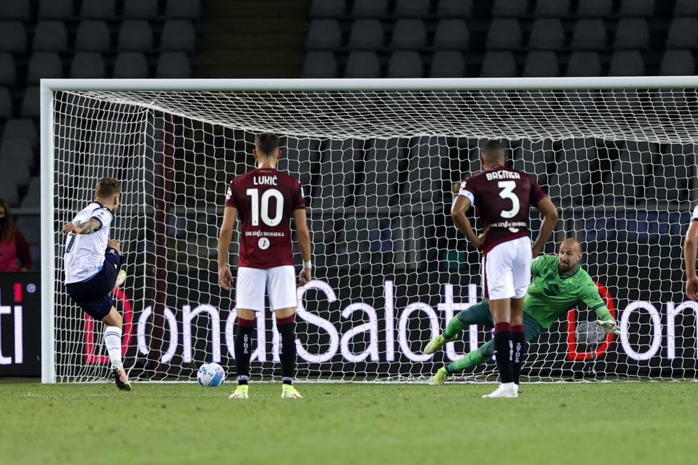 Torino 23/09/2021 - campionato di calcio serie A / Torino-Lazio / foto Image Sport nella foto: gol Ciro Immobile
