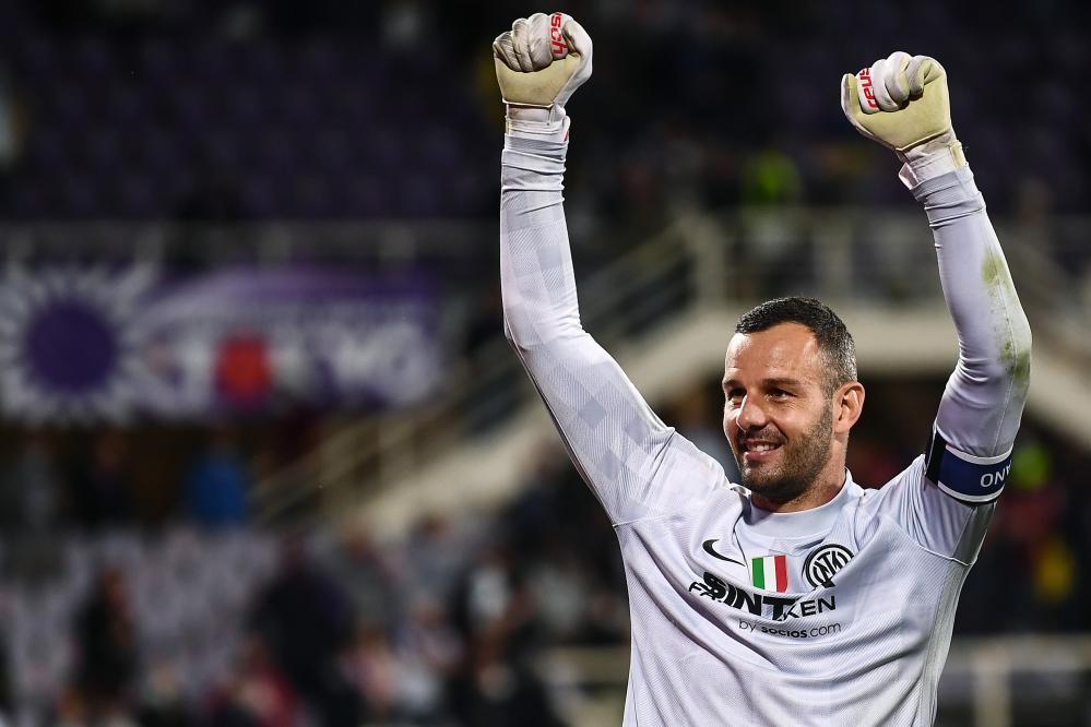 Mg Firenze 21/09/2021 - campionato di calcio serie A / Fiorentina-Inter / foto Matteo Gribaudi/Image Sport nella foto: Samir Handanovic