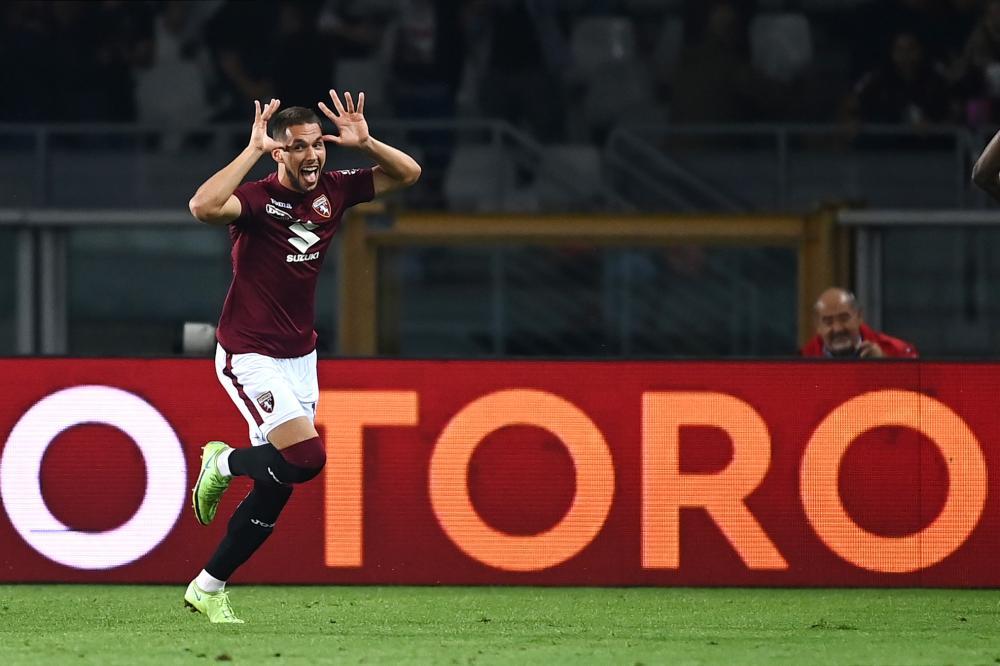 Db Torino 23/09/2021 - campionato di calcio serie A / Torino-Lazio / foto Daniele Buffa/Image Sport nella foto: esultanza gol Marko Pjaca