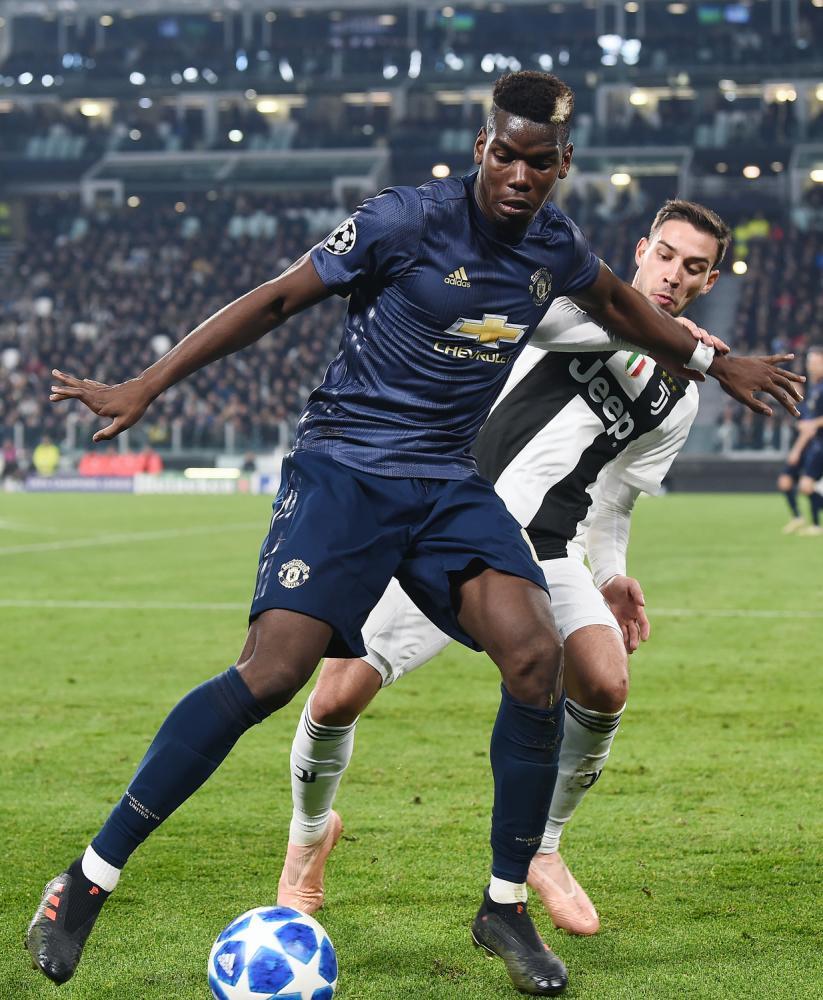 Mg Torino 07/11/2018 - Champions League / Juventus-Manchester United / foto Matteo Gribaudi/Image Sport nella foto: Mattia De Sciglio-Paul Pogba