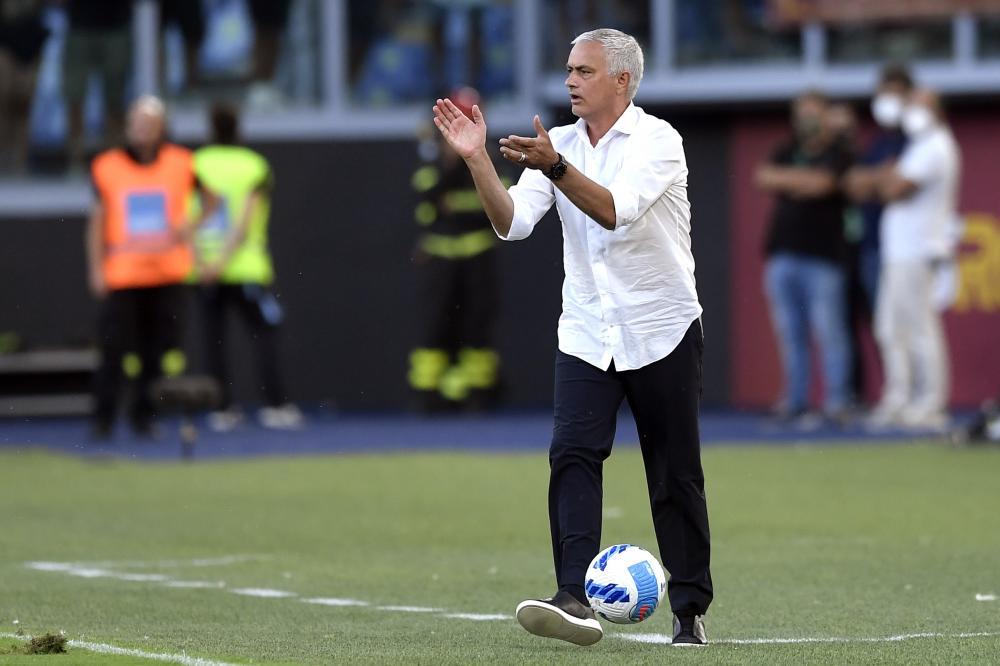Roma 26/08/2021 - Conference League / Roma- Trabzonspor / foto Insidefoto/Image Sport nella foto: Jose' Mourinho