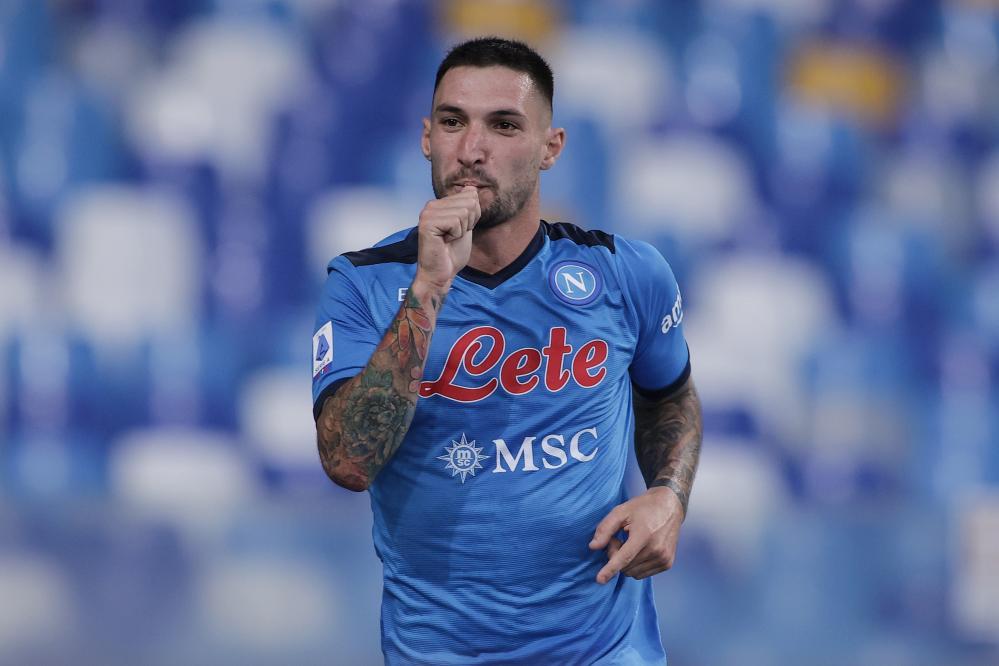 Napoli 11/09/2021 - campionato di calcio serie A / Napoli-Juventus / foto Insidefoto/Image Sport nella foto: esultanza gol Matteo Politano