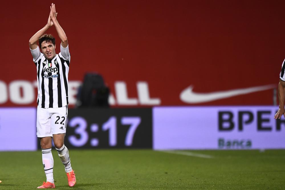 Reggio Emilia 19/05/2021 - finale Coppa Italia / Atalanta-Juventus / foto Image Sport nella foto: esultanza gol Federico Chiesa