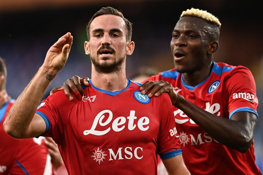Mg Genova 23/09/2021 - campionato di calcio serie A / Sampdoria-Napoli / foto Matteo Gribaudi/Image Sport nella foto: esultanza gol Fabian Ruiz