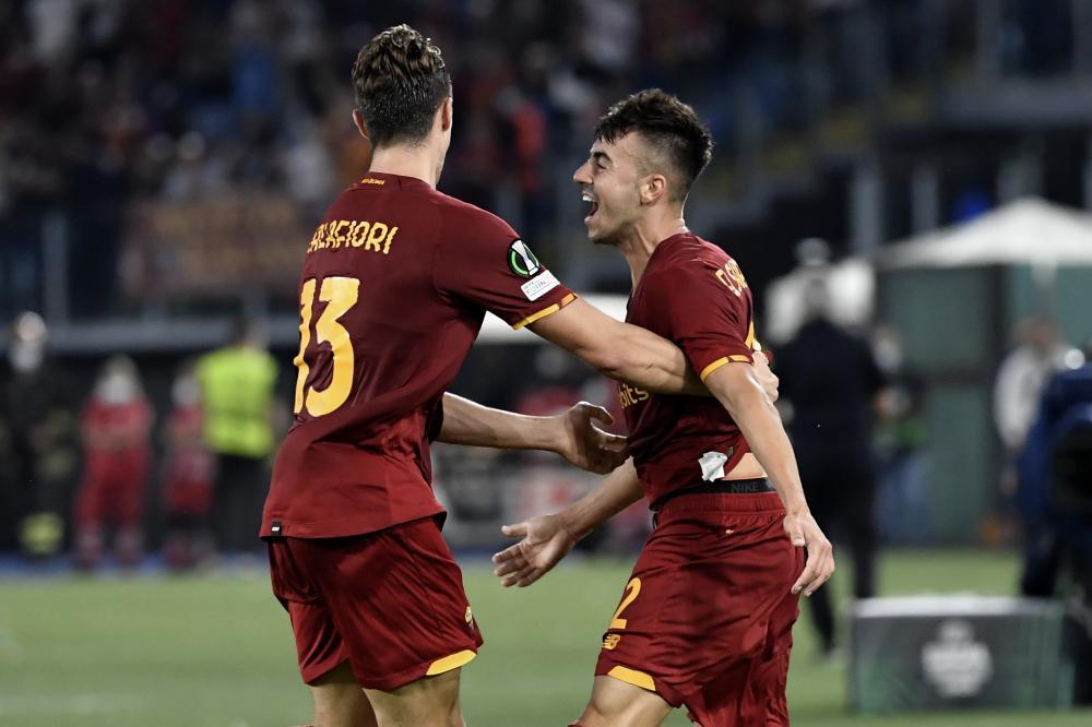 Roma 16/09/2021 - Conference League / Roma-CSKA Sofia / foto Insidefoto/Image Sport nella foto: esultanza gol Stephan El Shaarawy