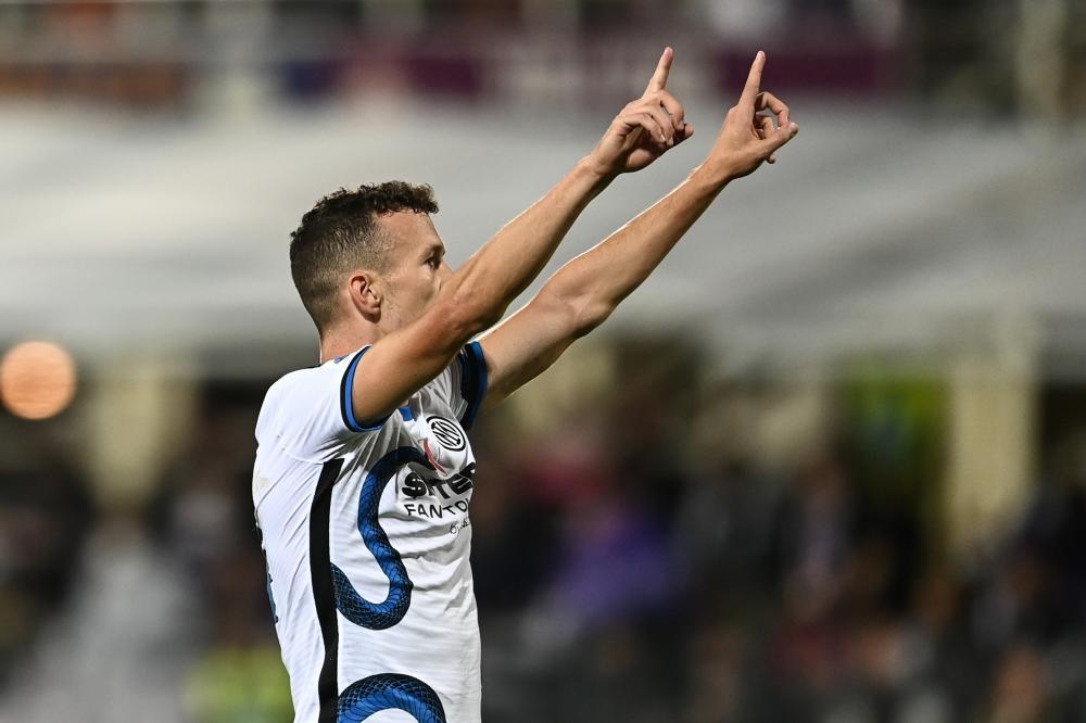Mg Firenze 21/09/2021 - campionato di calcio serie A / Fiorentina-Inter / foto Matteo Gribaudi/Image Sport nella foto: esultanza gol Ivan Perisic
