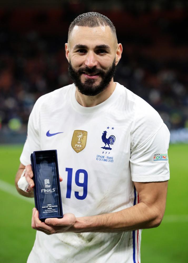Milano 10/10/2021 - Uefa Nations League / Spagna-Francia / foto Uefa/Image Sport nella foto: Karim Benzema
