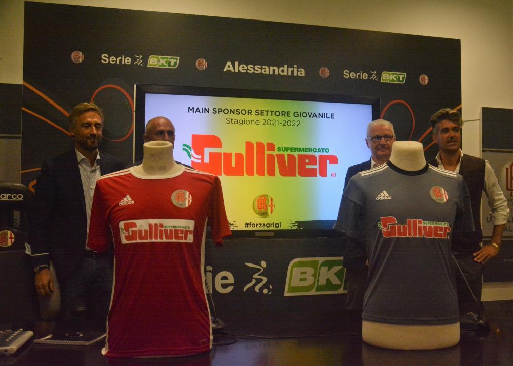 Alessandria, conferenza stampa presentazione sponsor settore giovanile, svoltasi allo stadio Giuseppe Moccagatta, nella foto: i protagonisti della conferenza stampa