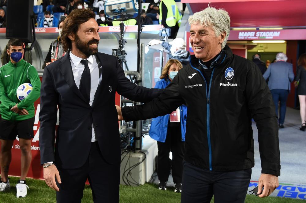 Db Reggio Emilia 19/05/2021 - finale Coppa Italia / Atalanta-Juventus / foto Daniele Buffa/Image Sport nella foto: Gian Piero Gasperini-Andrea Pirlo