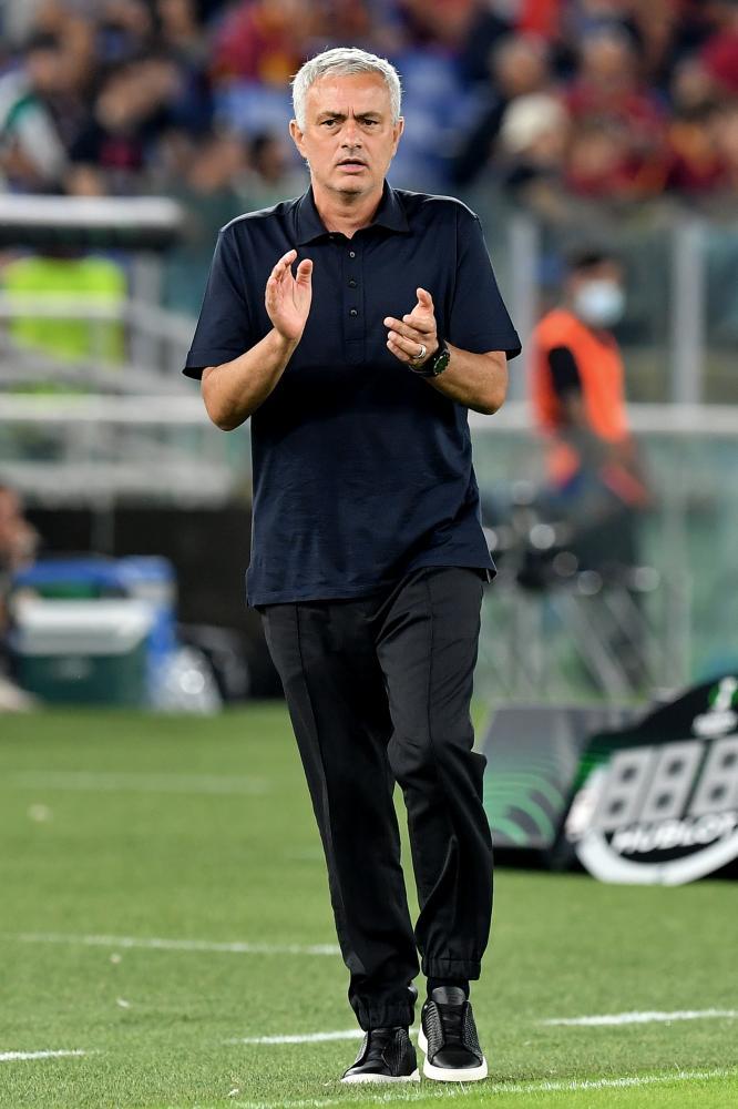 Roma 16/09/2021 - Conference League / Roma-CSKA Sofia / foto Image Sport nella foto: Jose' Mourinho