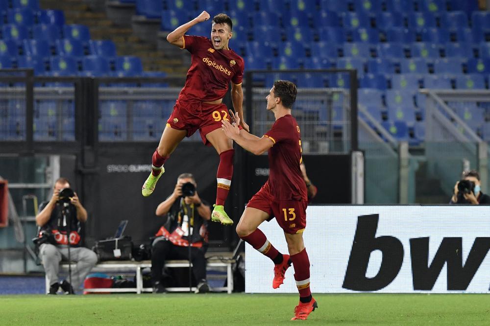 Roma 16/09/2021 - Conference League / Roma-CSKA Sofia / foto Image Sport nella foto: esultanza gol Stephan El Shaarawy