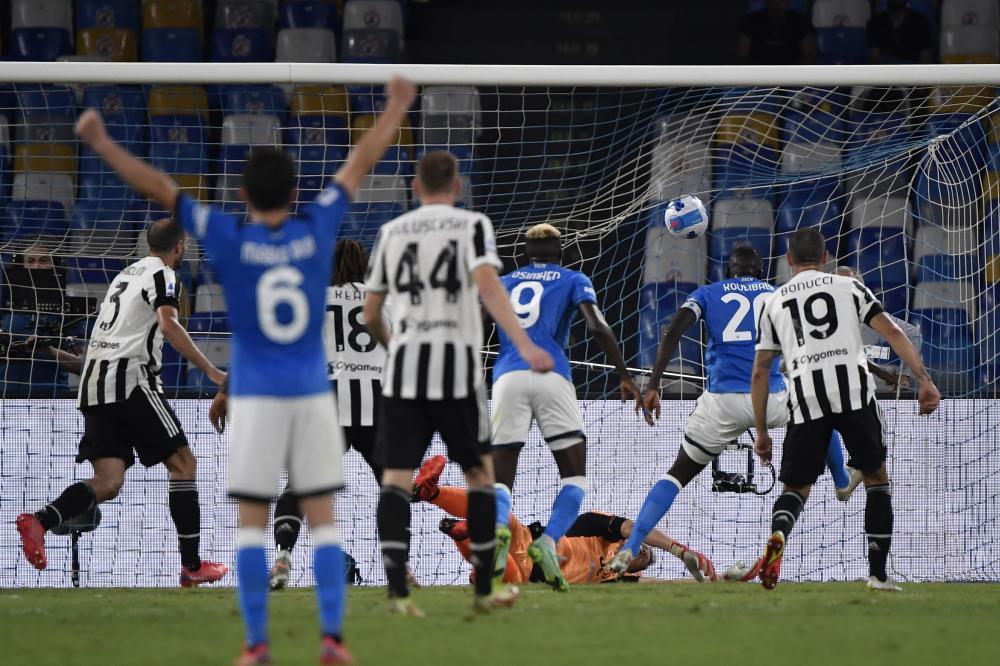 Napoli 11/09/2021 - campionato di calcio serie A / Napoli-Juventus / foto Insidefoto/Image Sport nella foto: gol Kalidou Koulibaly