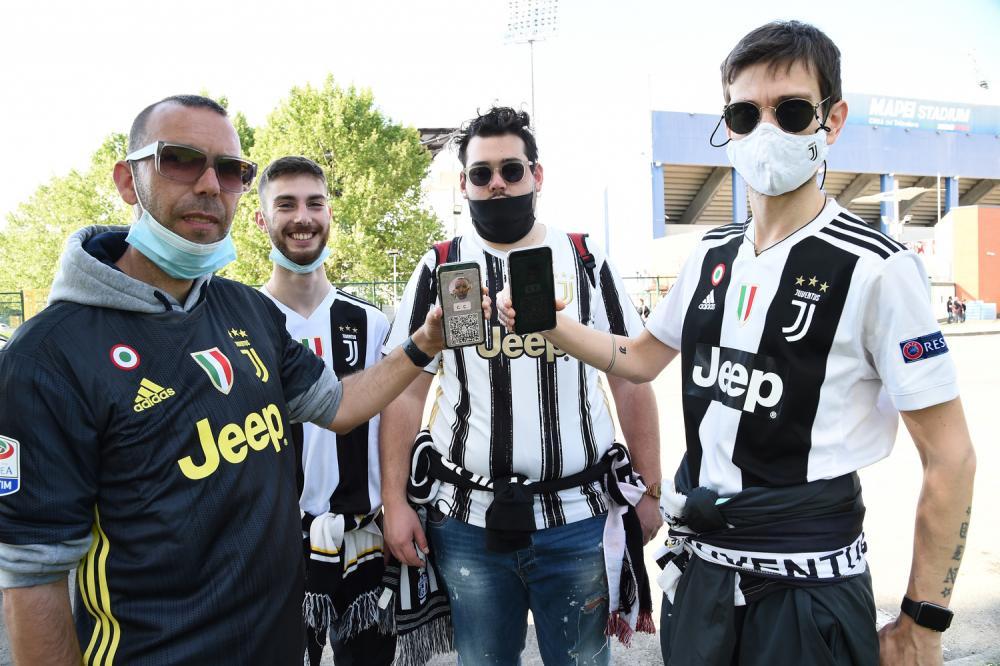 Db Reggio Emilia 19/05/2021 - finale Coppa Italia / Atalanta-Juventus / foto Daniele Buffa/Image Sport nella foto: ingresso tifosi