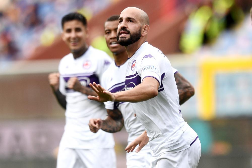 Genova 18/09/2021 - campionato di calcio serie A / Genoa-Fiorentina / foto Image Sport nella foto: esultanza gol Riccardo Saponara
