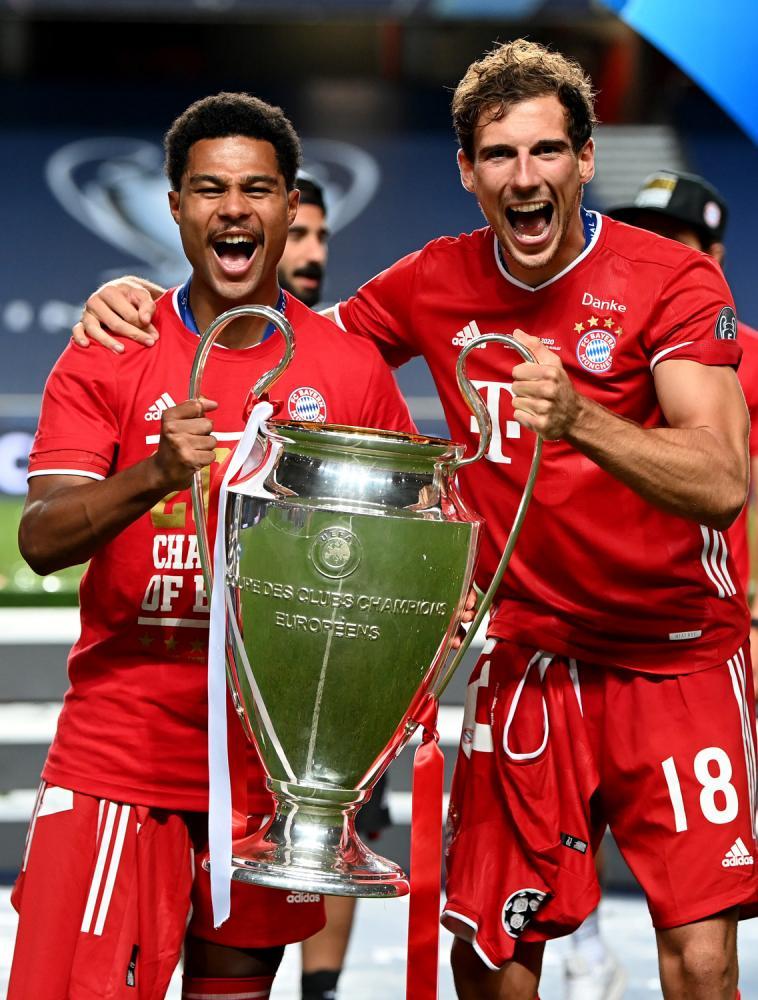 Lisbona (Portogallo) 23/08/2020 - finale Final Eight Champions League / Paris Saint Germain-Bayern Monaco / foto Getty/Uefa/Image Sport nella foto: Serge Gnabry-Leon Goretzka