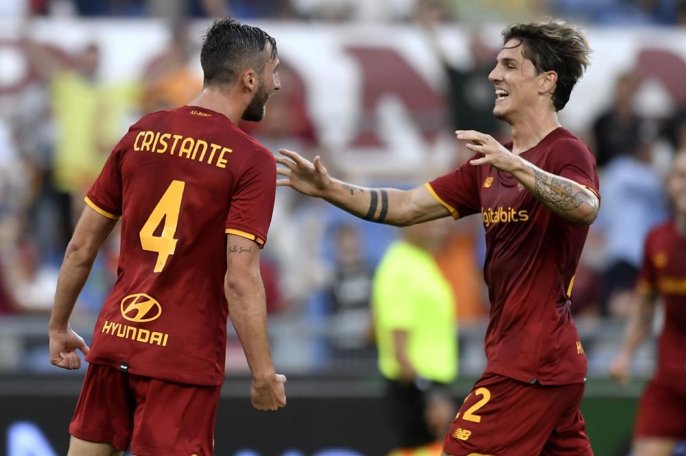 Roma 26/08/2021 - Conference League / Roma- Trabzonspor / foto Insidefoto/Image Sport nella foto: esultanza gol Bryan Cristante
