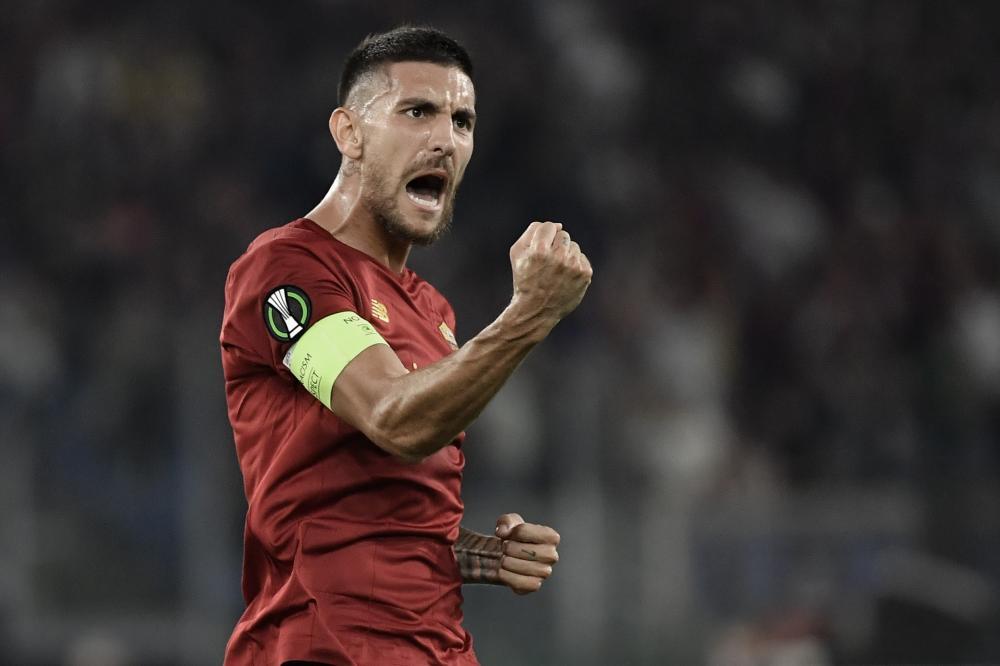 Roma 16/09/2021 - Conference League / Roma-CSKA Sofia / foto Insidefoto/Image Sport nella foto: esultanza gol Lorenzo Pellegrini