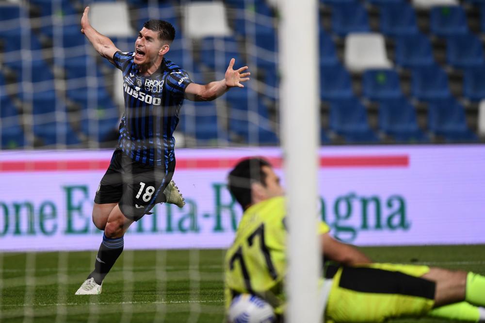 Db Reggio Emilia 19/05/2021 - finale Coppa Italia / Atalanta-Juventus / foto Daniele Buffa/Image Sport nella foto: esultanza gol Ruslan Malinovskyi