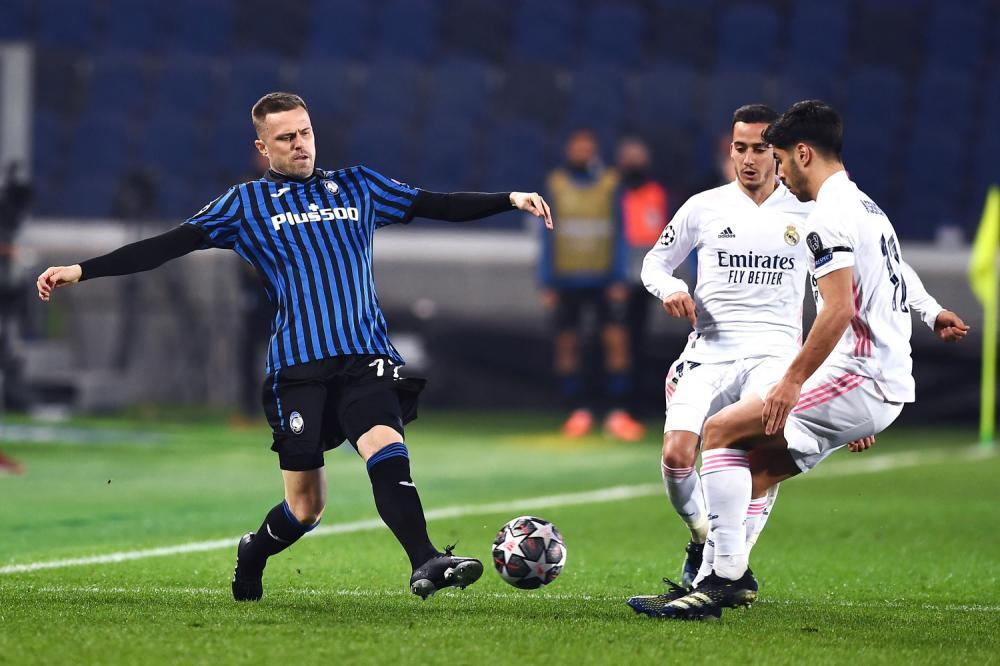 Mg Bergamo 24/02/2021 - Champions League / Atalanta-Real Madrid / foto Matteo Gribaudi/Image Sport nella foto: Josip Ilicic-Marco Asensio