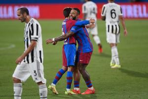 Db Barcellona (Spagna) 08/08/2021 - amichevole / Barcellona-Juventus / foto Daniele Buffa/Image Sport nella foto: esultanza gol Riqui Puig